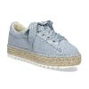 Modré dámské tenisky na přírodní flatformě bata, modrá, 559-9606 - 13