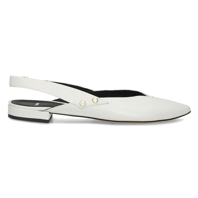 Kožené bílé Sling-back lodičky bata, bílá, 524-1601 - 19