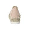 Růžové dámské espadrilky s přírodní flatformou bata, růžová, 559-5605 - 15
