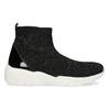 Černá kotníčková dámská obuv s kamínky bata-light, černá, 599-6628 - 19