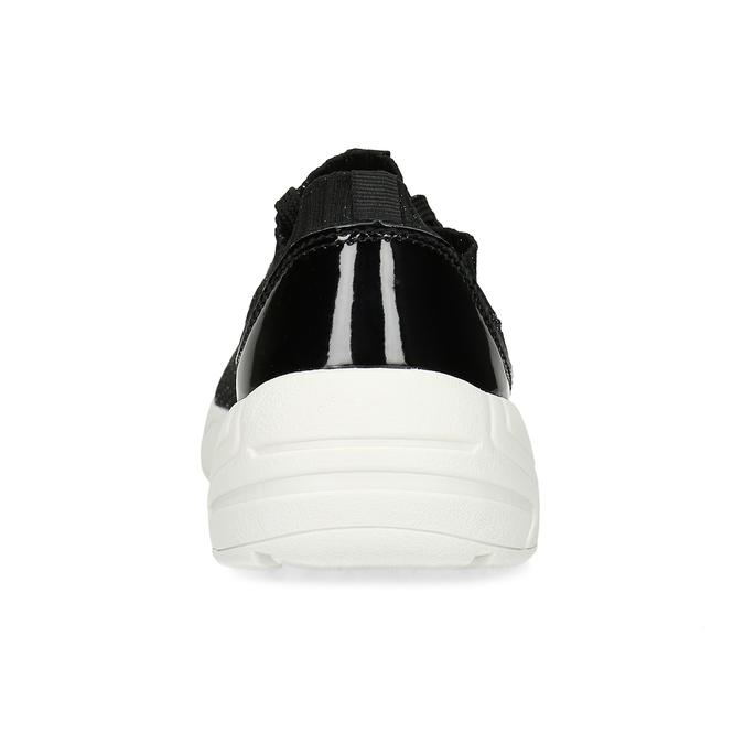 Černé dámské tenisky z úpletu bata-light, černá, 549-6615 - 15