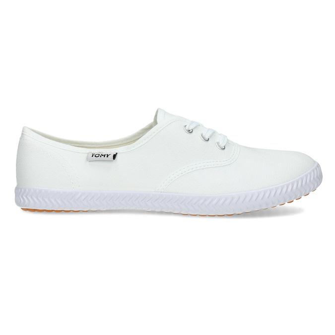 Dámské bílé ležérní tenisky tomy-takkies, bílá, 589-1385 - 19