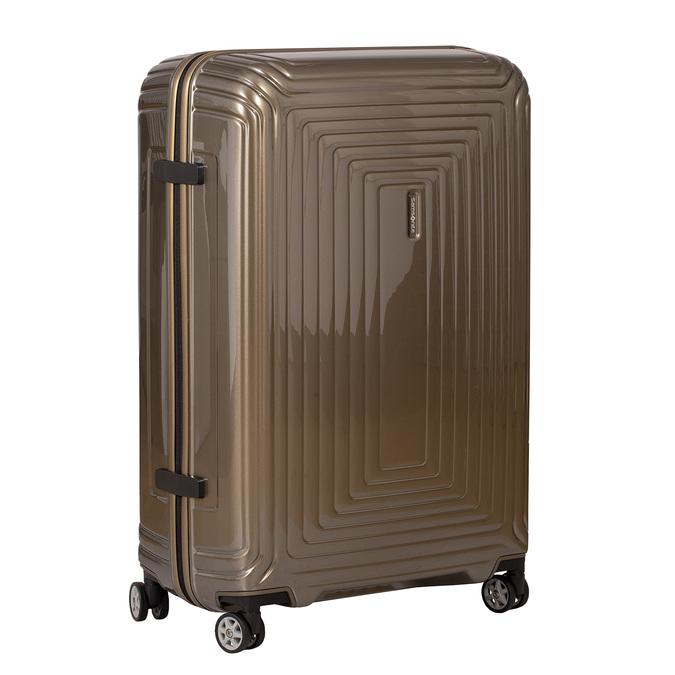 Kvalitní zlatý skořepinový kufr samsonite, zlatá, 960-8024 - 13