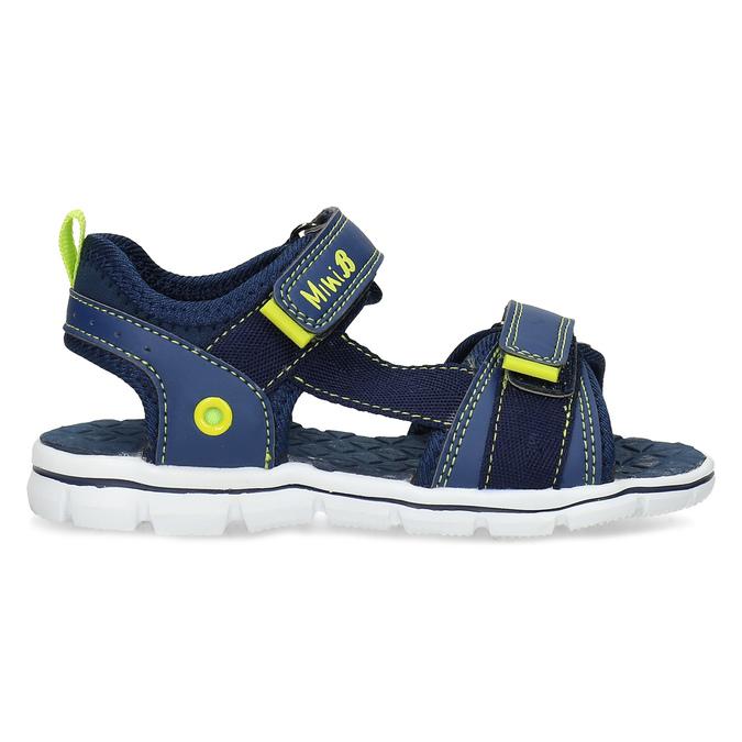 Modré sandály chlapecké mini-b, modrá, 361-9620 - 19