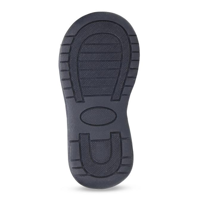 Modré dětské sandály s výrazným prošitím bubblegummers, modrá, 161-9613 - 18