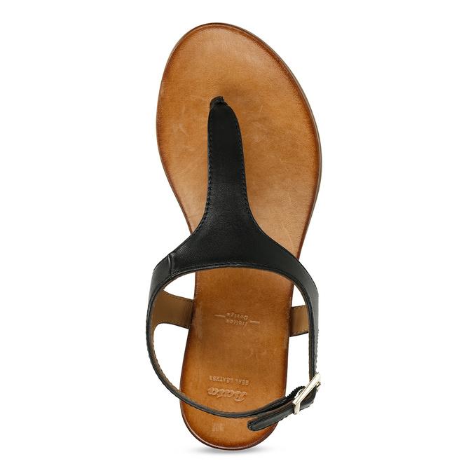 Černé dámské kožené sandály bata, černá, 564-6603 - 17