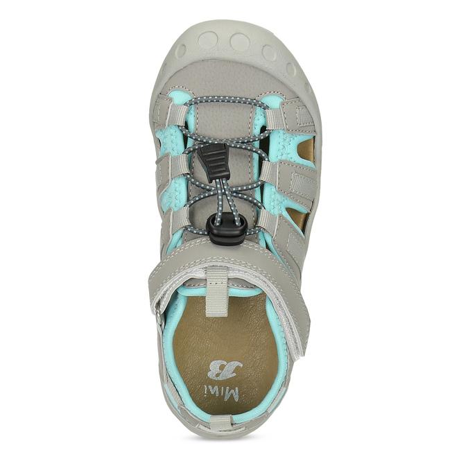 Šedé dětské sandály mini-b, šedá, 461-2716 - 17