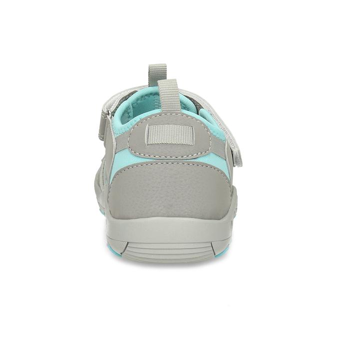 Šedé dětské sandály mini-b, šedá, 461-2716 - 15