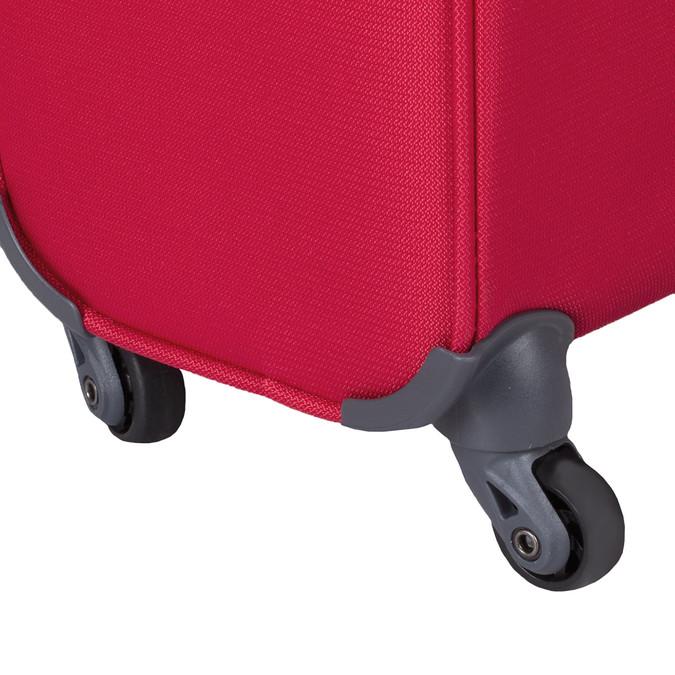 Kvalitní červený textilní kufr samsonite, červená, 960-5037 - 15