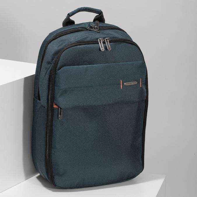 Modrý cestovní batoh s přihrádkami samsonite, modrá, 960-9062 - 17