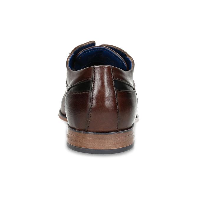 Tmavě hnědé pánské kožené polobotky bugatti, hnědá, 824-4951 - 15