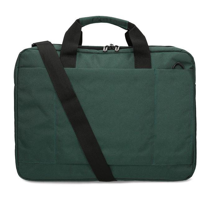 Zelená cestovní taška s popruhem samsonite, zelená, 960-7068 - 16
