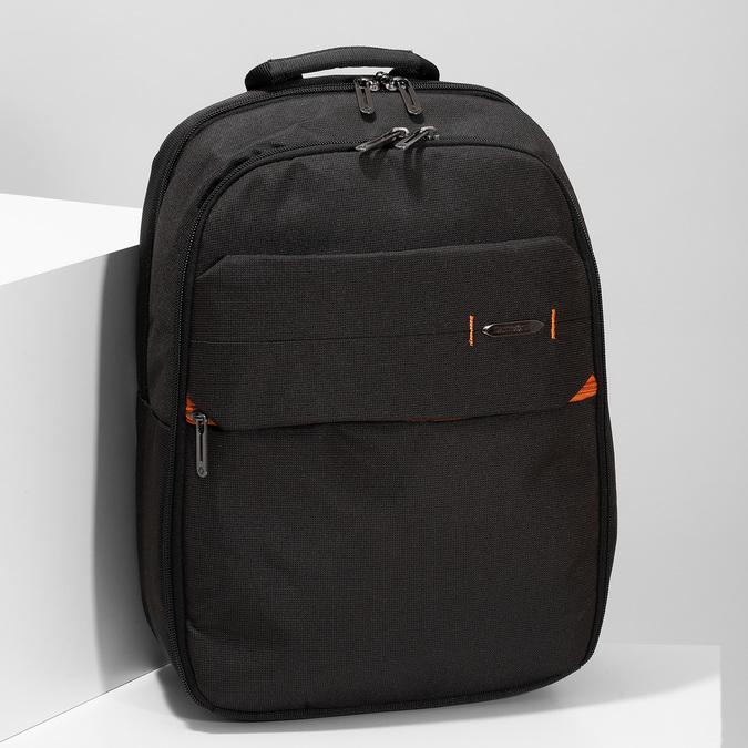 Černý kvalitní cestovní batoh samsonite, černá, 960-6056 - 17