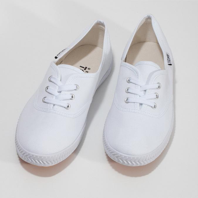 Dámské bílé ležérní tenisky tomy-takkies, bílá, 589-1385 - 16