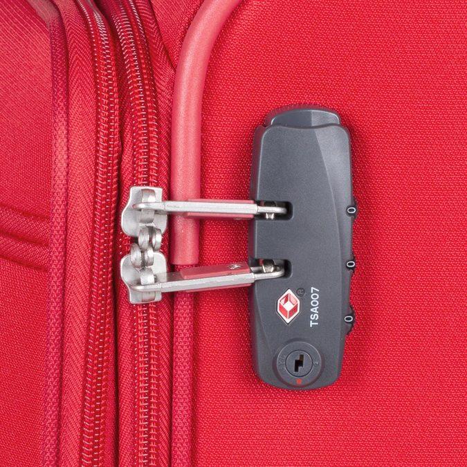 Velký červený textilní kufr samsonite, červená, 960-5041 - 16