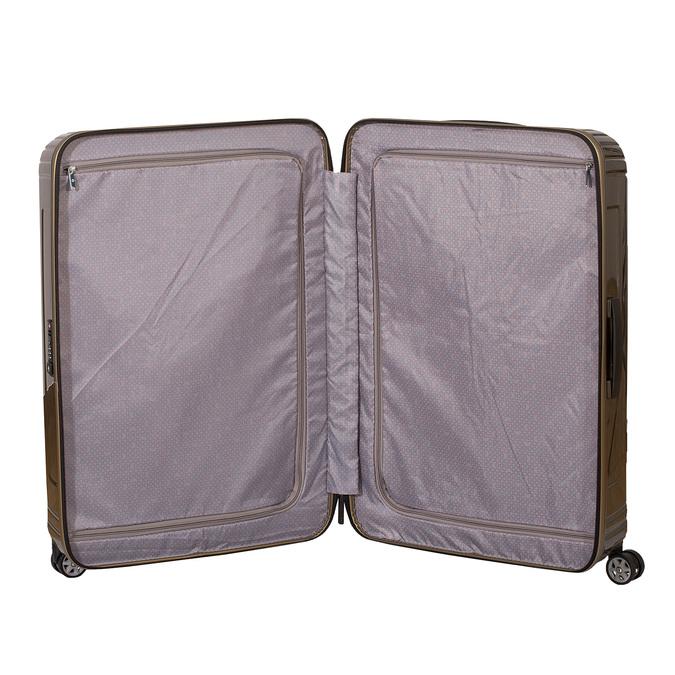 Cestovní zlatý skořepinový kufr samsonite, zlatá, 960-8023 - 17