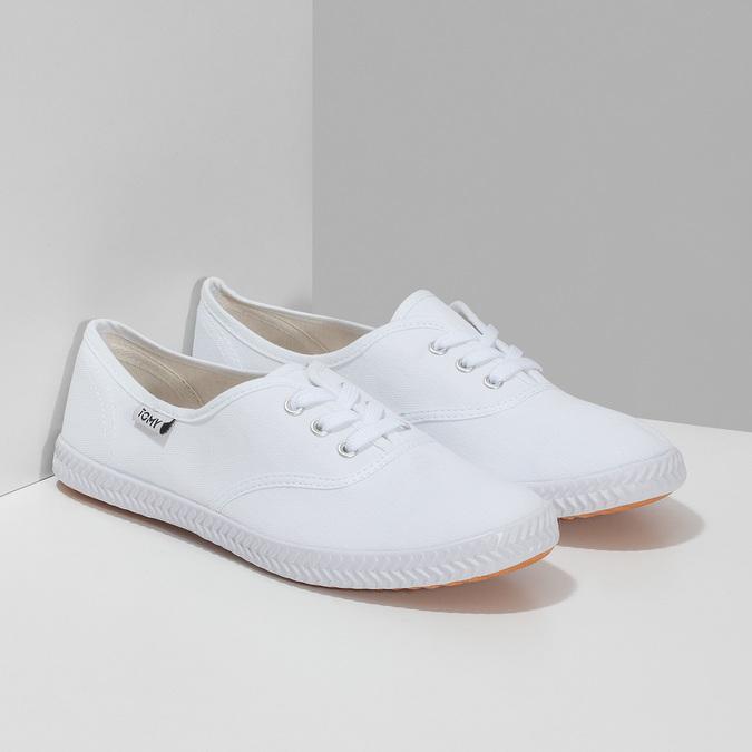 Dámské bílé ležérní tenisky tomy-takkies, bílá, 589-1385 - 26