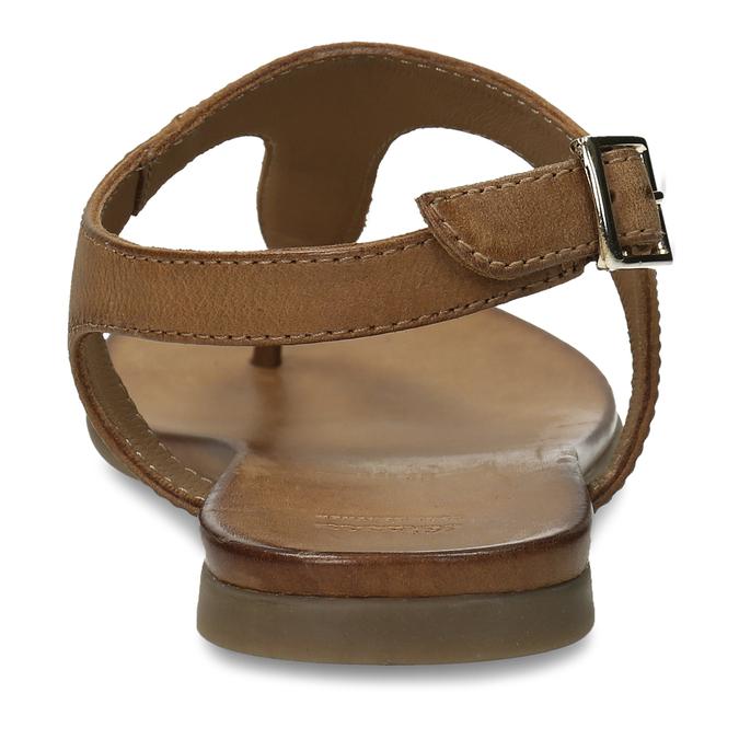 Hnědé kožené dámské sandály bata, hnědá, 564-3603 - 15