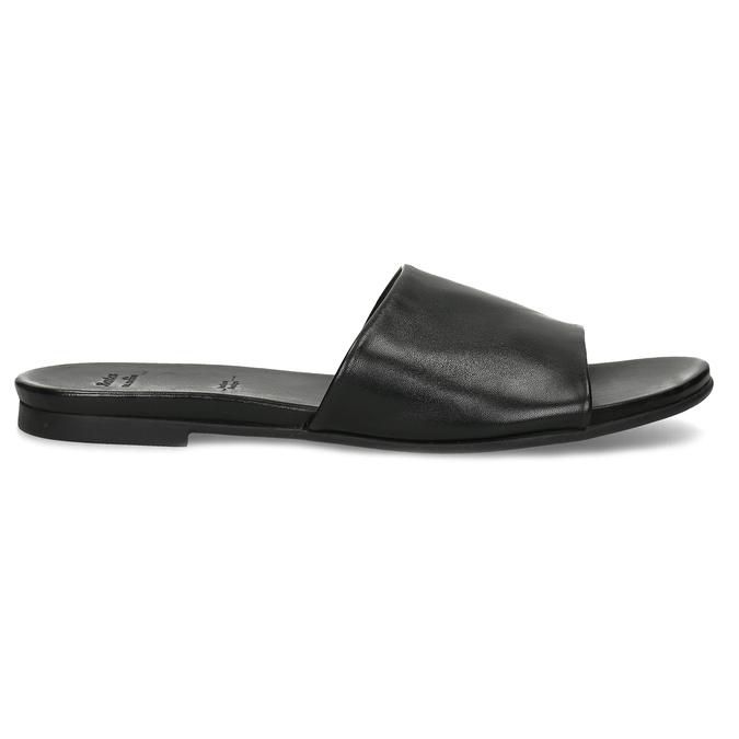 Černé kožené nazouváky dámské bata, černá, 564-6602 - 19