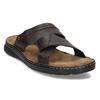 Pánské hnědé kožené nazouváky bata, hnědá, 866-4656 - 13