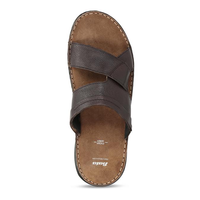 Pánské hnědé kožené nazouváky bata, hnědá, 866-4656 - 17
