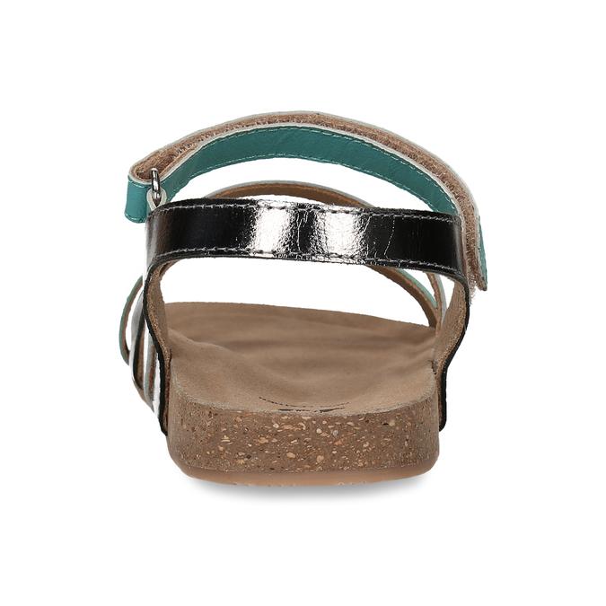 Páskové dívčí sandály kožené mini-b, tyrkysová, 466-7611 - 15