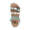 Kožené dětské sandály na suchý zip mini-b, tyrkysová, 466-7611 - 17