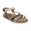 Dětské kožené sandály na suchý zip mini-b, zlatá, 466-8611 - 13