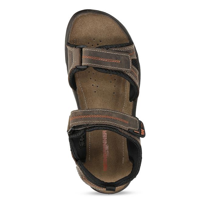 Hnědé pánské sandály z broušené kůže weinbrenner, hnědá, 866-4679 - 17