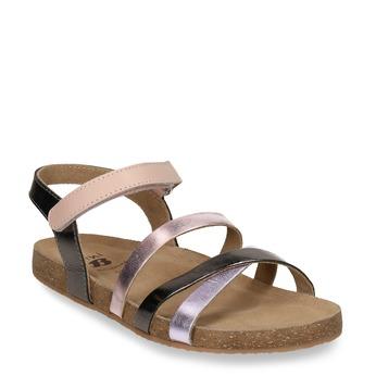 Sandály dívčí kožené mini-b, zlatá, 466-8611 - 13