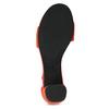 Červené kožené sandály na stabilním podpatku vagabond, červená, 623-5023 - 18