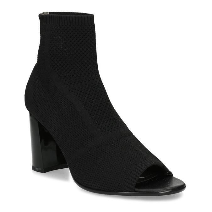 Černé dámské kozačky na stabilním podpatku bata-b-flex, černá, 799-6646 - 13