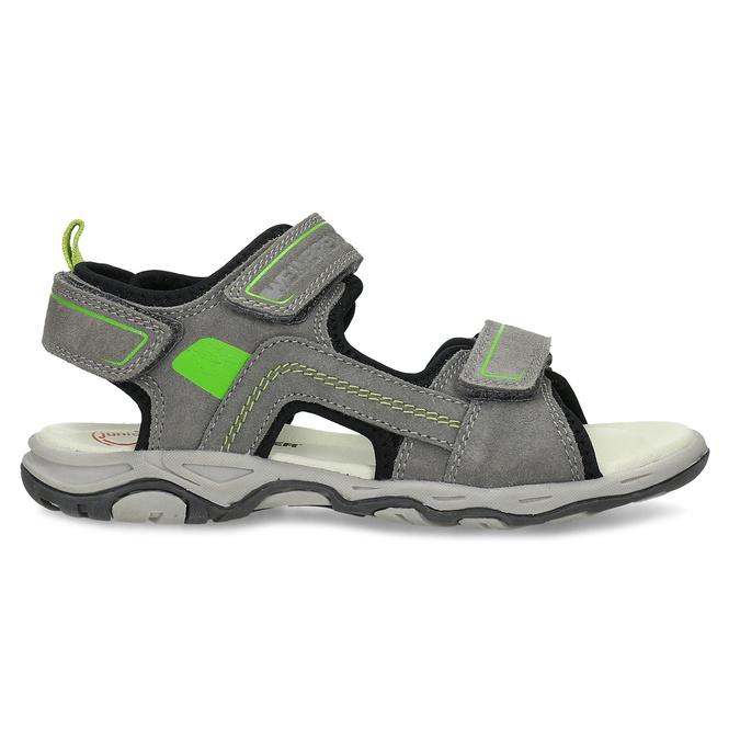 Chlapecké šedé sandály kožené weinbrenner, šedá, 463-2608 - 19