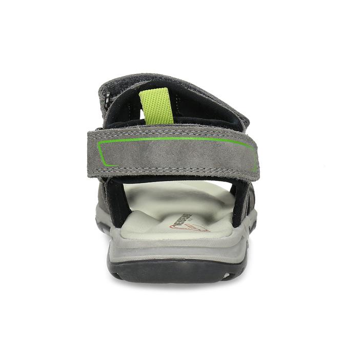 Chlapecké šedé sandály kožené weinbrenner, šedá, 463-2608 - 15