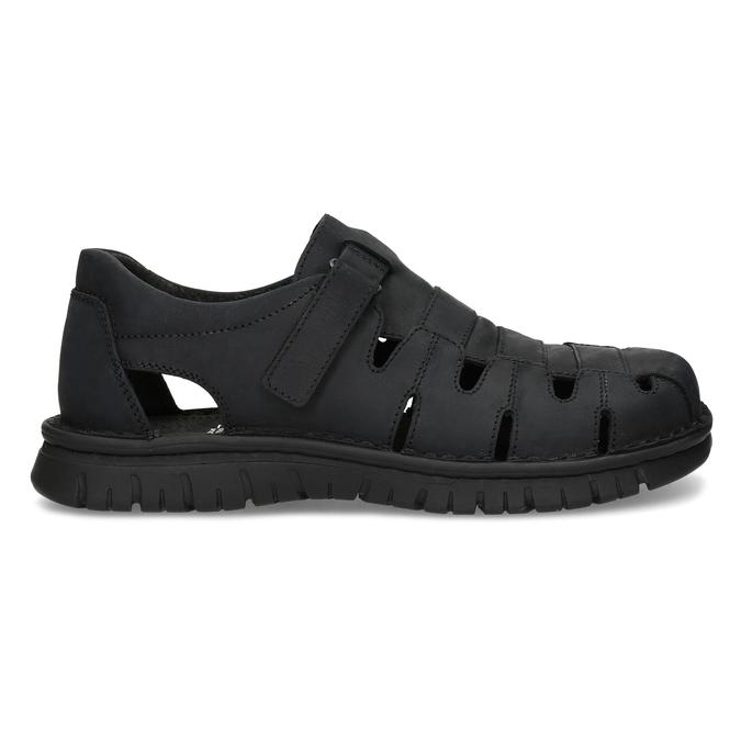 Pánské kožené černé sandály bata, černá, 866-6852 - 19