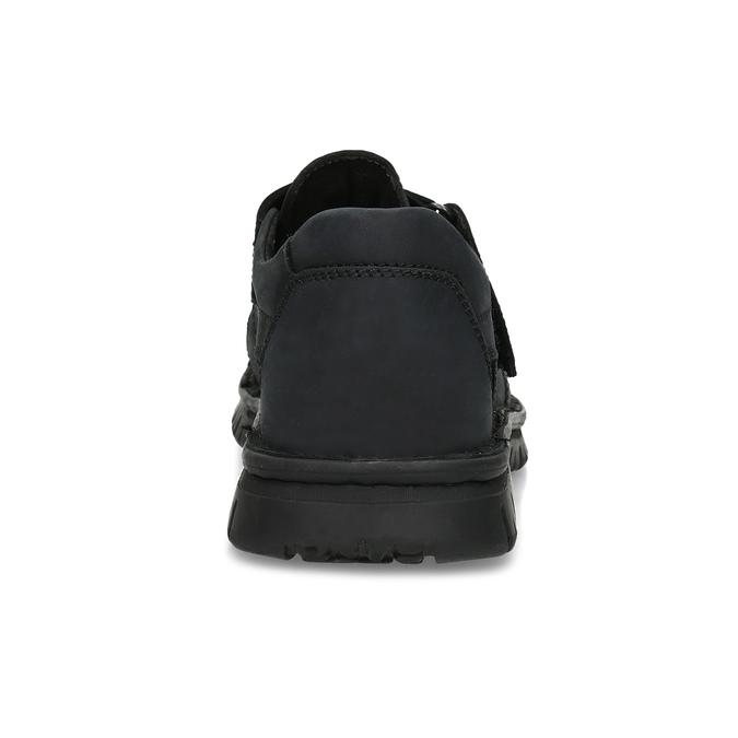 Pánské kožené černé sandály bata, černá, 866-6852 - 15