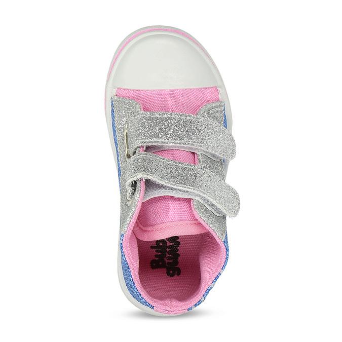 Dívčí tenisky textilní bubblegummers, modrá, 129-9603 - 17