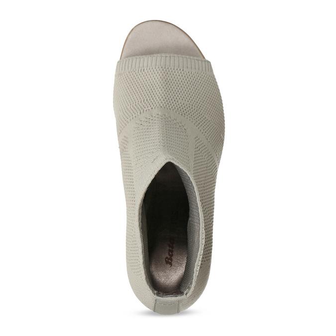 Šedé kotníčkové kozačky na stabilním podpatku bata-b-flex, šedá, 799-2646 - 17