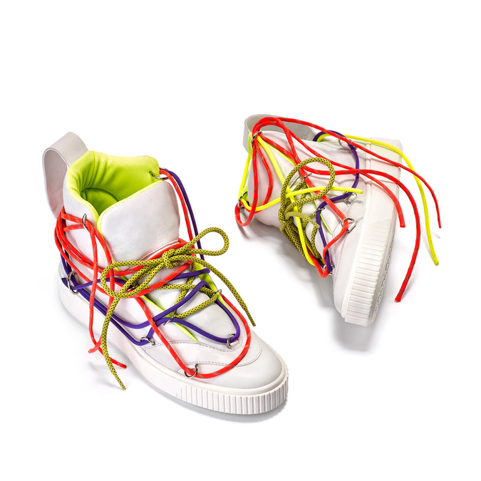 Bílé kotníčkové tenisky s barevnými tkaničkami bata, bílá, 544-1114 - 16