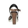 Kožené černé sandály na přírodním podpatku flexible, černá, 763-6631 - 15