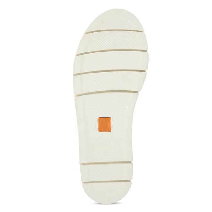 Černé dámské kožené sandály na světlé podešvi flexible, černá, 563-6601 - 18