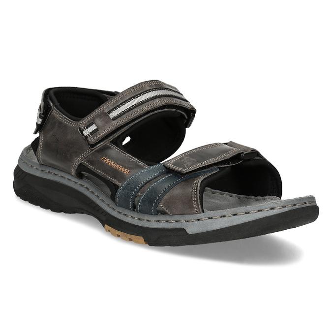 c92070904c Weinbrenner Hnědé kožené pánské sandály - Weinbrenner