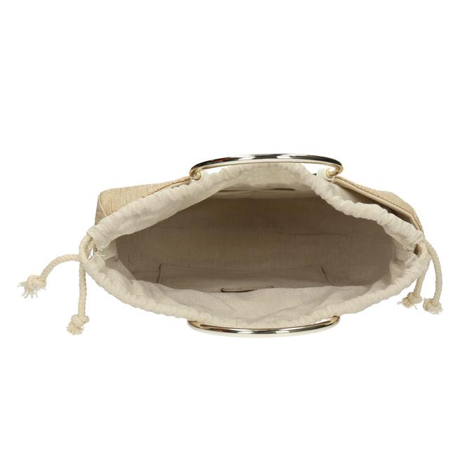 Béžová dámská pletená kabelka bata-red-label, béžová, 961-8970 - 15