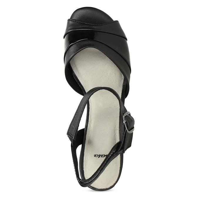 Dámské nazouváky na podpatku bata, černá, 664-6602 - 17