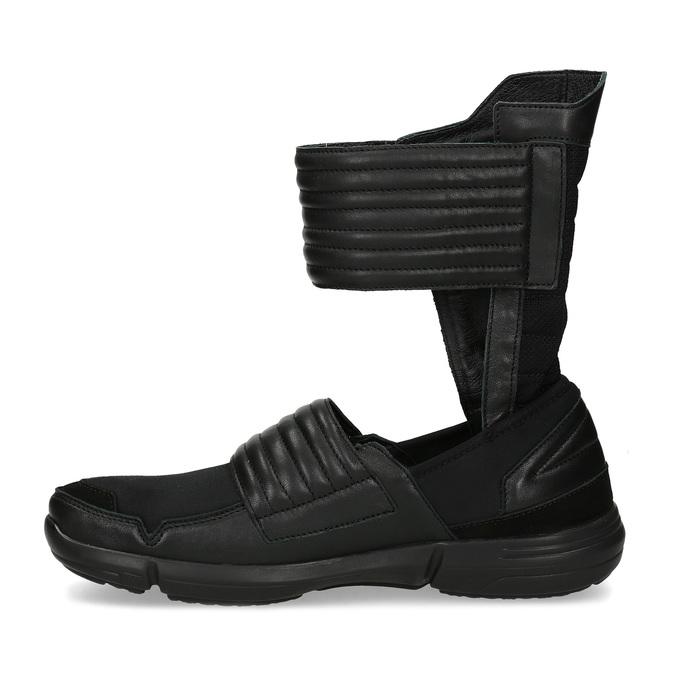 Vysoké pánské tenisky se suchými zipy bata, černá, 844-6745 - 17