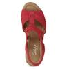 Červené dámské sandály z broušené kůže gabor, červená, 663-5602 - 17