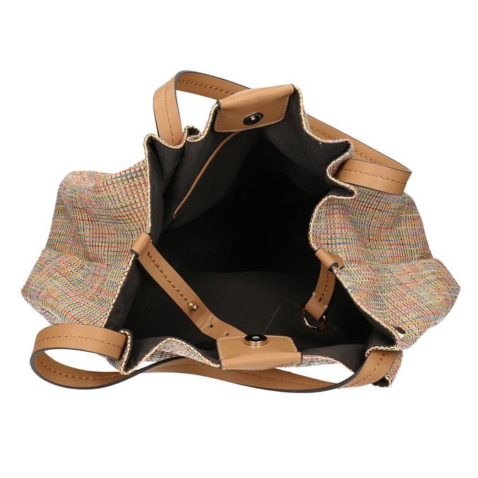 Béžová dámská kabelka s barevným protkáním bata, béžová, 969-8942 - 15