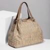 Béžová dámská kabelka s barevným protkáním bata, béžová, 969-8942 - 17