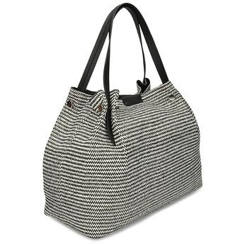 Černobílá dámská kabelka s kovovými cvoky bata, černá, 969-6942 - 13