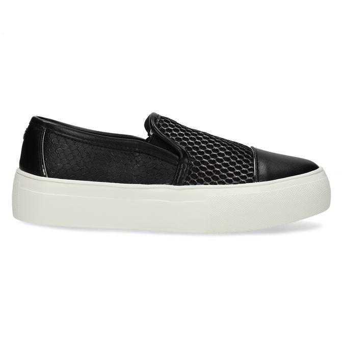 Černá dámská Slip-on obuv se strukturou bata-light, černá, 511-6615 - 19